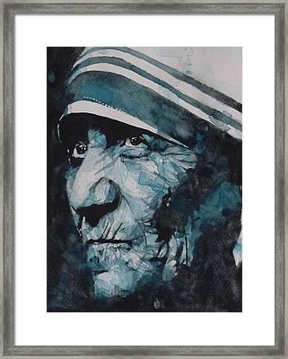 Mother Teresa Framed Print by Paul Lovering
