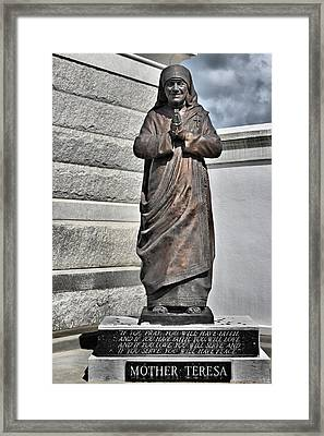Mother Teresa - St Louis Cemetery No 3 New Orleans Framed Print by Christine Till
