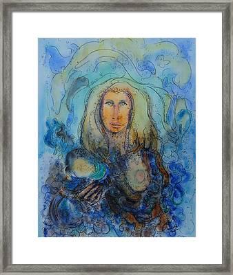 Mother Framed Print by Vandana Devendra