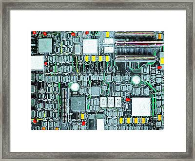 Motherboard Abstract 20130716 Framed Print by Wingsdomain Art and Photography