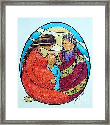 Motherhood Framed Print by Joey Nash