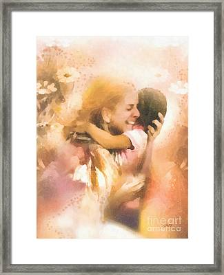 Mother's Arms Framed Print by Mo T