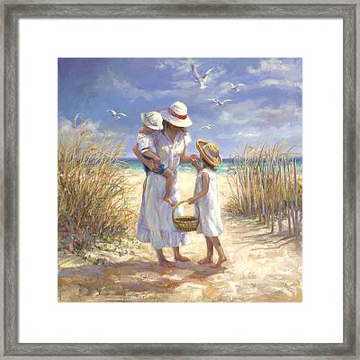 Mothers Day Beach Framed Print by Laurie Hein