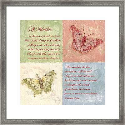 Mothers Day Butterfly Framed Print by Debbie DeWitt