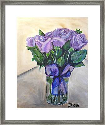 Mother's Day Roses Framed Print by Melissa Torres