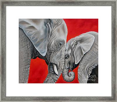 Mothers Love Framed Print by Ilse Kleyn