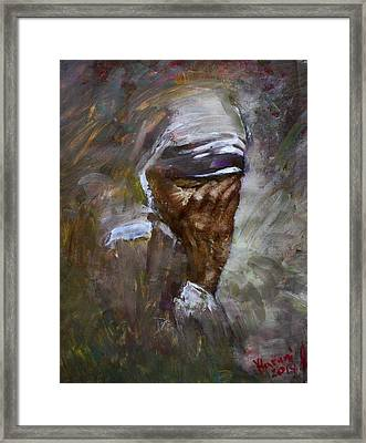 Mother's Pain Framed Print by Ylli Haruni