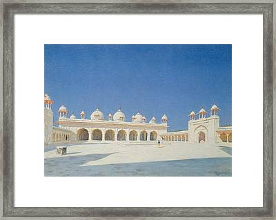 Moti Masjid, Agra Framed Print by Vasili Vasilievich Vereshchagin