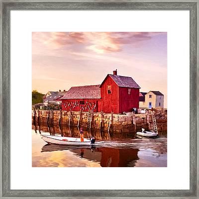 Motif Number One Rockport Massachusetts  Framed Print by Bob and Nadine Johnston