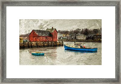 Motif Number1 Rockport Framed Print by Michael Petrizzo