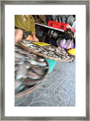 Motion Blurred Street Markets - Bangkok Thailand - 01131 Framed Print by DC Photographer