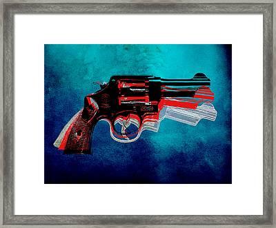 Motion Gun Framed Print by Gary Grayson