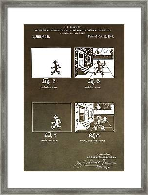 Motion Picture Patent Framed Print by Dan Sproul