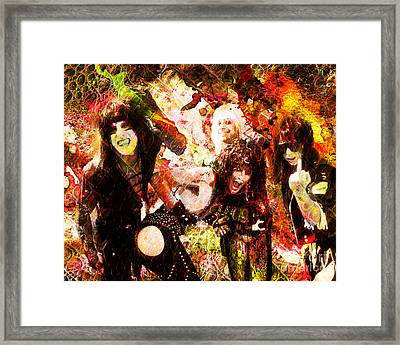Motley Crue Original Painting Print Framed Print by Ryan Rock Artist