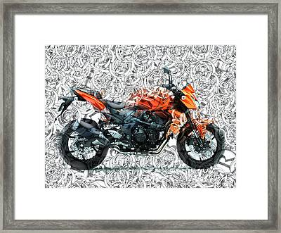 Moto Art S01-01a Framed Print by Variance Collections