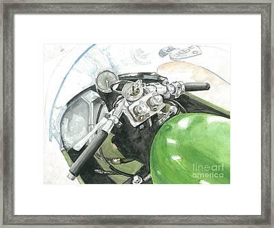 Moto Guzzi 350 Compressore Framed Print by Ingrid Wijnant
