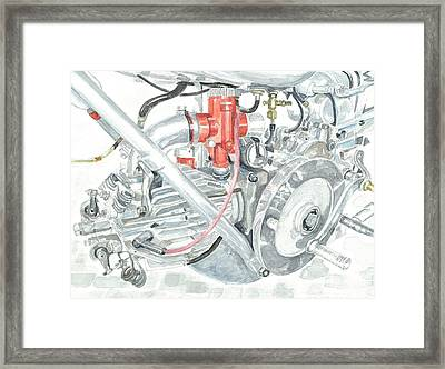 Moto Guzzi Gambalunga 500 Framed Print by Ingrid Wijnant