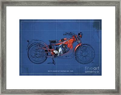 Moto Guzzi Gt Norge 500 1928 Framed Print by Pablo Franchi