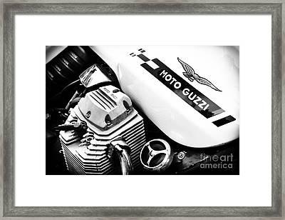 Moto Guzzi Le Mans Monochrome Framed Print by Tim Gainey