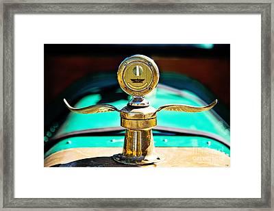 Moto Meter Framed Print by Scott Pellegrin