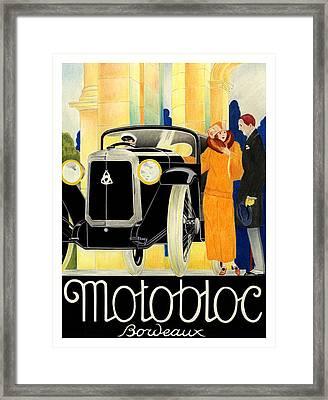 Motobloc Framed Print by Lyle Brown