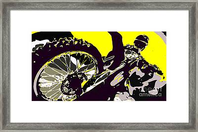 Motocross Framed Print by Chris Butler