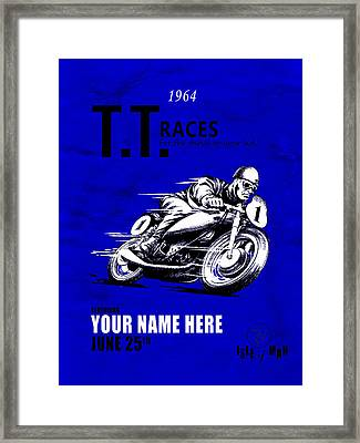 Motorcycle Customized Poster 3 Framed Print by Mark Rogan