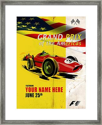 Customized Poster 7 Framed Print by Mark Rogan