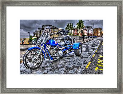 Motorcycle Rally 1 Framed Print by Steve Purnell