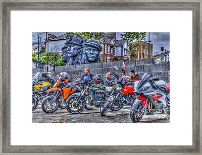 Motorcycle Rally 2 Framed Print by Steve Purnell