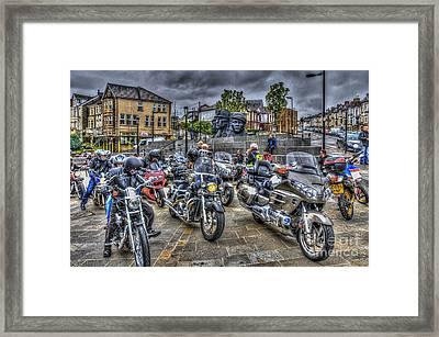 Motorcycle Rally 3 Framed Print by Steve Purnell