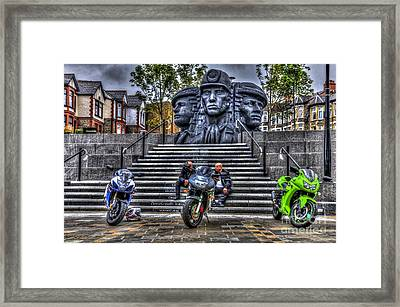 Motorcycle Rally 4 Framed Print by Steve Purnell