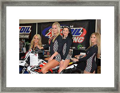 Motorcycle Show Girls Framed Print by Lawrence Christopher