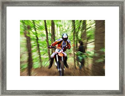 Motorcycle Framed Print by Trevor Miller