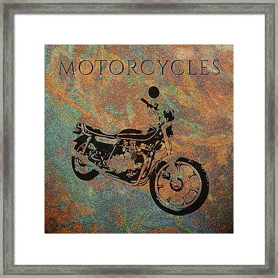 Motorcycles Kz 750 Framed Print by Kd Neeley