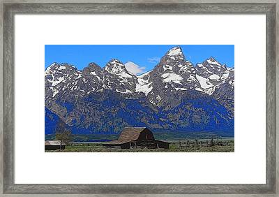 Moulton Barn In Grand Teton National Park Framed Print by Dan Sproul