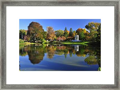 Mount Auburn Reflection Framed Print by Michael Dyer