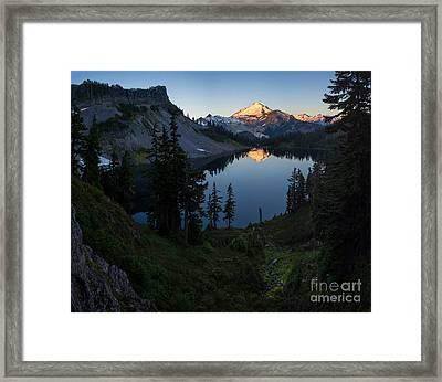 Mount Baker Chain Lakes Awakening Framed Print by Mike Reid