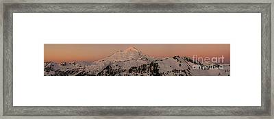 Mount Baker Majestic Framed Print by Mike Reid