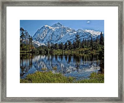Mount Baker Reflections - Washington Framed Print by Mountain Dreams