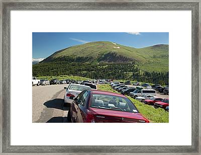 Mount Bierstadt Hiking Trail Car Park Framed Print by Jim West