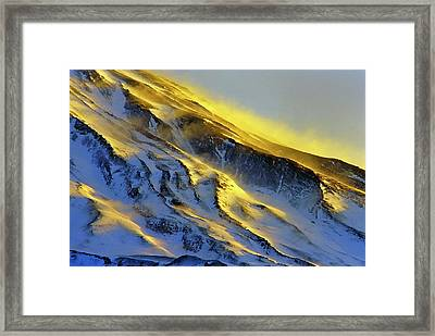Mount Damavand At Dawn Framed Print by Babak Tafreshi