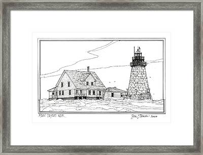 Mount Desert Rock Lighthouse Framed Print by Ira Shander