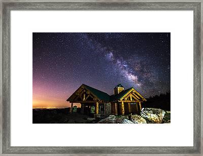 Mount Evans Visitor Cabin Framed Print by Darren  White