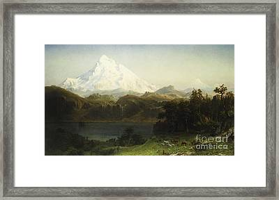Mount Hood In Oregon Framed Print by Albert Bierstadt