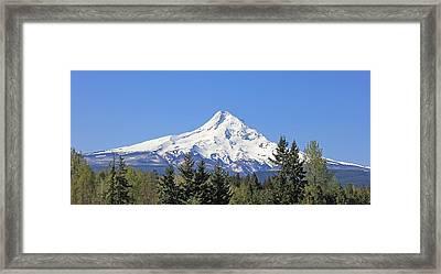 Mount Hood Mountain Oregon Framed Print by Jennie Marie Schell