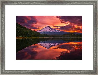 Mount Hood Sunrise Framed Print by Darren  White