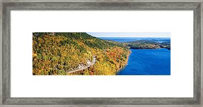 Mount Jordan Pond, Acadia National Framed Print by Panoramic Images