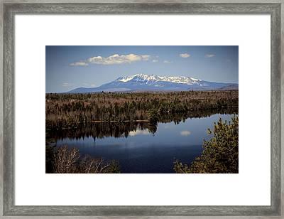 Mount Katahdin Framed Print by Cheryl Swift