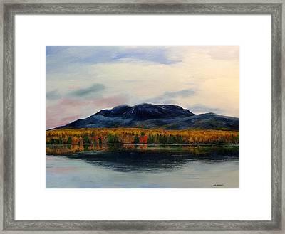 Mount Katahdin Framed Print by Ken Ahlering